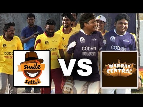Madras Central Vs Smile Settai : Cricket Match | Gopi As Opening Batsman | Youtubers Cricket League