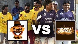 Madras Central Vs Smile Settai : Cricket Match | Gopi As Opening Batsman | Youtubers Cricket League