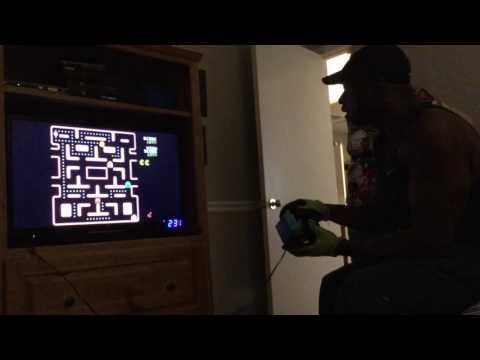 Man Playing The Ms. Pac-Man Collection Plug-n-Play!