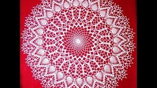 "Салфетка крючком ""Ажурная снежинка"". Часть_2_Doily crochet ""Openwork snowflake"