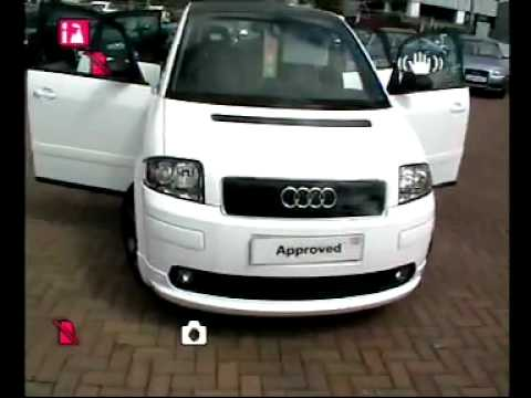 stafford audi video stocklist audi a2 1 6fsi sport wrapped. Black Bedroom Furniture Sets. Home Design Ideas