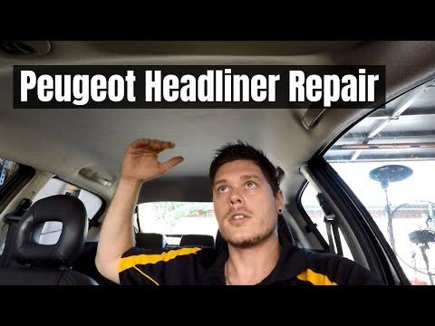 CAR HEADLINER REPAIR | Peugeot 206 gti Headlining Removal
