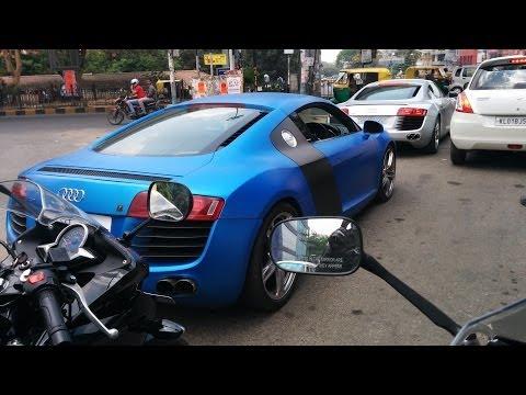 Chasing Audi R8 in Bangalore