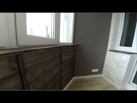 Отделка балкона декоративным кирпичом. Имитация + покраска.