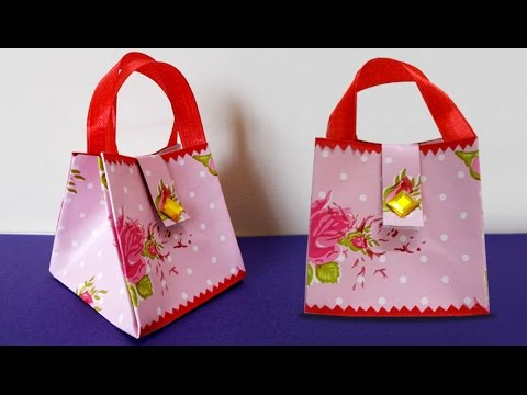 cb2b21abf063 DIY Paper Crafts   How to Make Handmade Mini Paper Bag