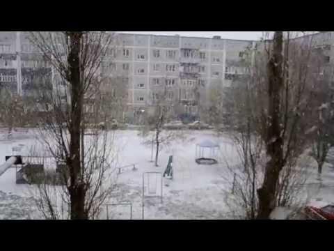 Снег в Кропоткине