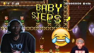 NO ONE CAN RUN FAST ENOUGH TO BEAT THIS LEVEL!! [SUPER MARIO MAKER 2] [#09]! REACTION!!!
