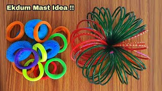 Best Out Of Waste Bangles and Hair Rubber Bands | Best Reuse Idea