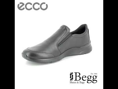60c60edd73dd ECCO Irving Slip-on 511684-01001 Black casual shoes - YouTube