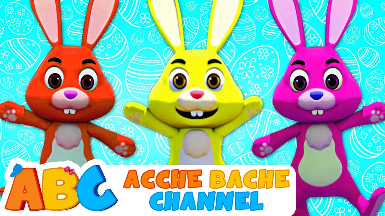 कूदते हुए बन्नी | Bunny Hop Song | Hindi Balgeet | Acche Bache Channel