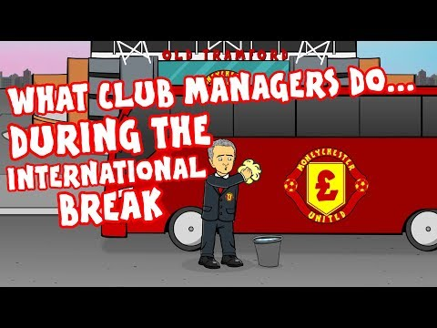 WHAT MANAGERS DO IN THE INTERNATIONAL BREAK! (Feat. Mourinho, Zidane, Wenger, Klopp and more!)