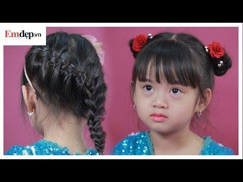 Hướng dẫn làm 2 kiểu tóc siêu đẹp dành cho bé gái đi chơi mùng 1-6