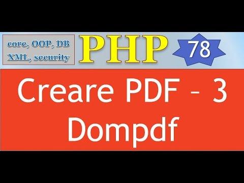 PHP 5.5 ITA 78: Creare PDF - 3 (Dompdf)