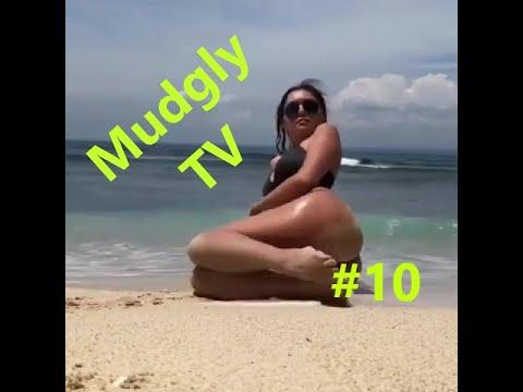 Смешные видео, приколы, Тюлень на пляже   Выпуск #10 Mudgly TV