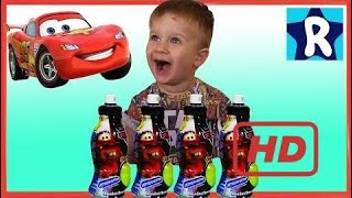★ Cars Zipper Magnets Toys From Cartoon Cars Wheelbarrow Juice With A Surprise Lightning Mcq  # 216