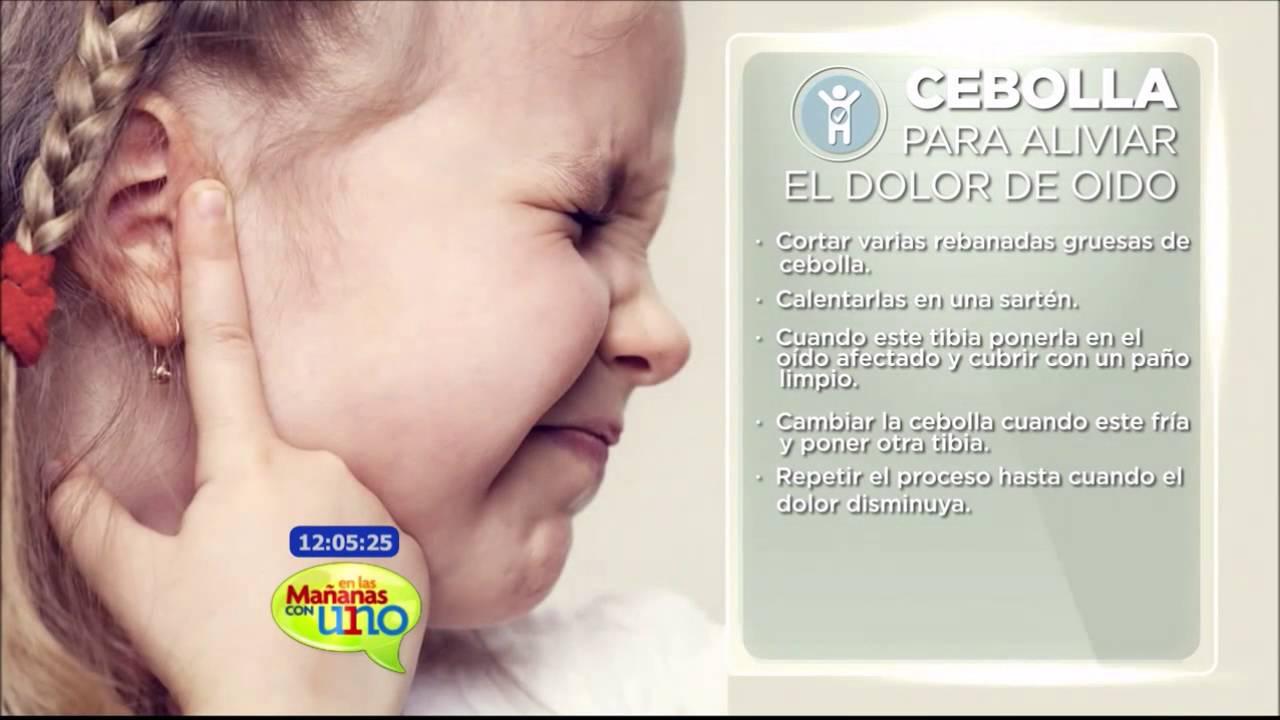 remedios naturales para aliviar el dolor de oido