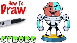 How to Draw Cyborg | Teeny Titans