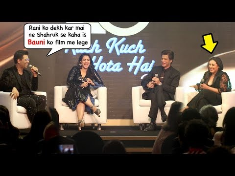 Karan Johar Makes FUN Of Rani Mukherji's Height In Front of SRK & Kajol At Kuch Kuch Hota Hai Event
