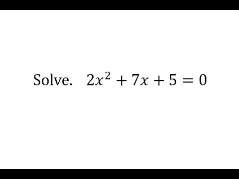 Solve a Quadratic Equation by Completing the Square (a not 1, b is odd)