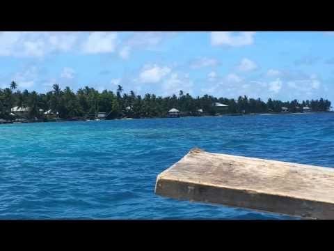 Boat ride in the lagoon, Nukunonu Tokelau