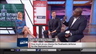 Michelle Beadle in Blue Heels and Meaty Thighs (Sportsnation)