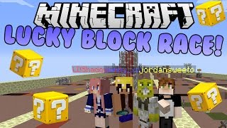 Minecraft Lucky Block Race with Friends!