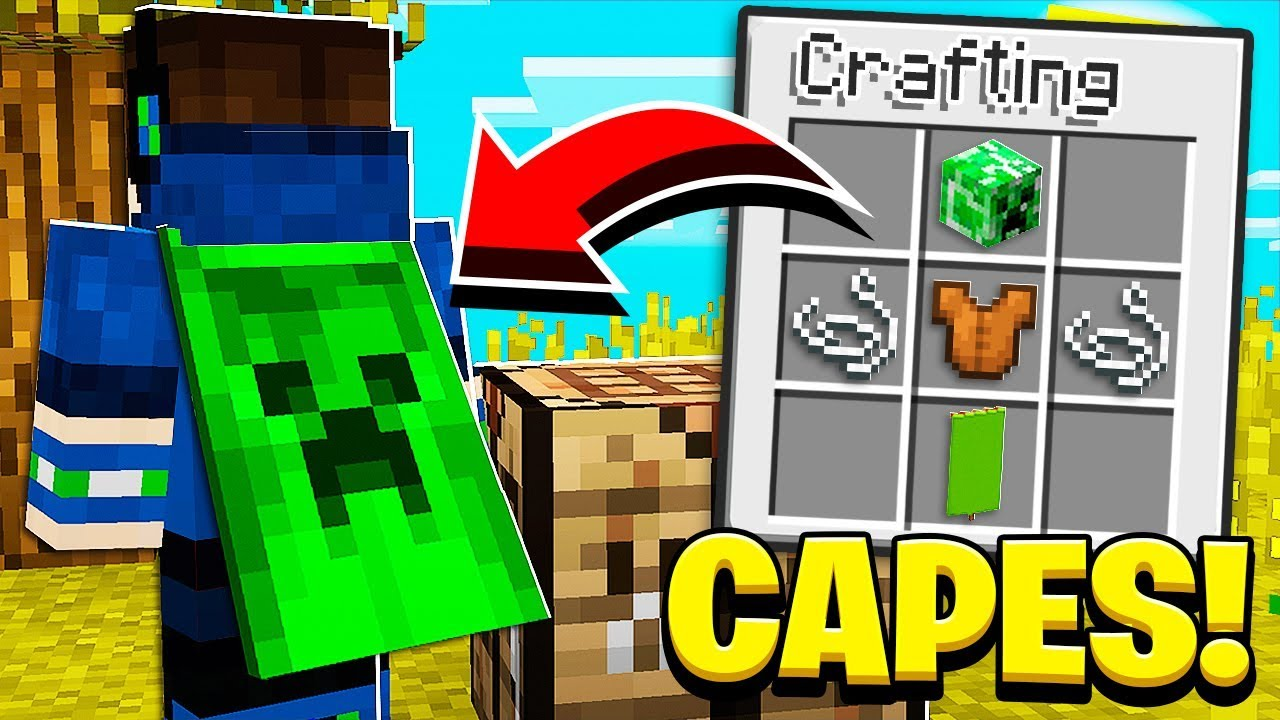 How to CRAFT CAPES in Minecraft Tutorial! (Pocket Edition, Xbox, PC)