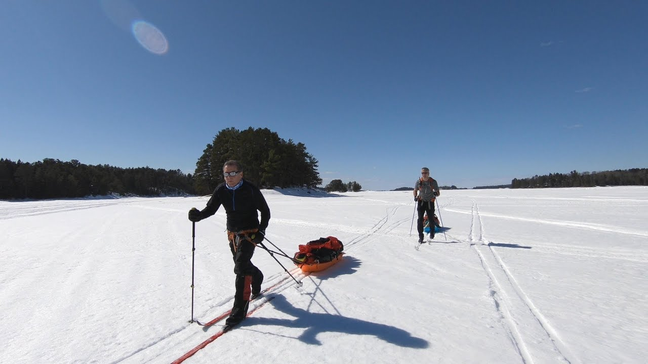 Camp 46 Winter Ski Version: Lake Kabetogama
