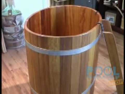 sauna tauchbecken aus kambala holz 100 x 72 cm youtube. Black Bedroom Furniture Sets. Home Design Ideas