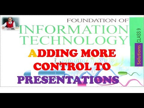 Adding More Control to Presentations Class 9 FIT CS CBSE Chapter 11