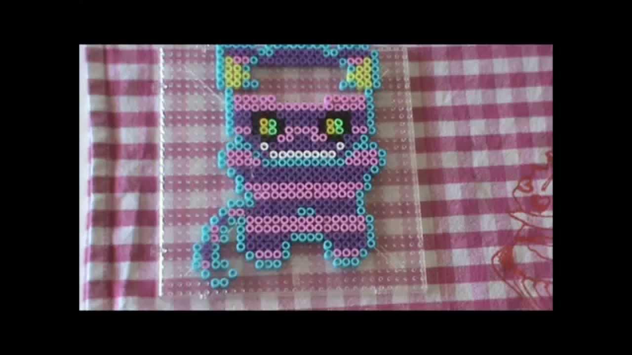 Bugelperlen Vorlage Cute Series 9 Grinse Katze Perler Beads