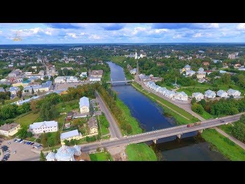 Город Торжок с воздуха, август 2018 год // Torzhok, Russia