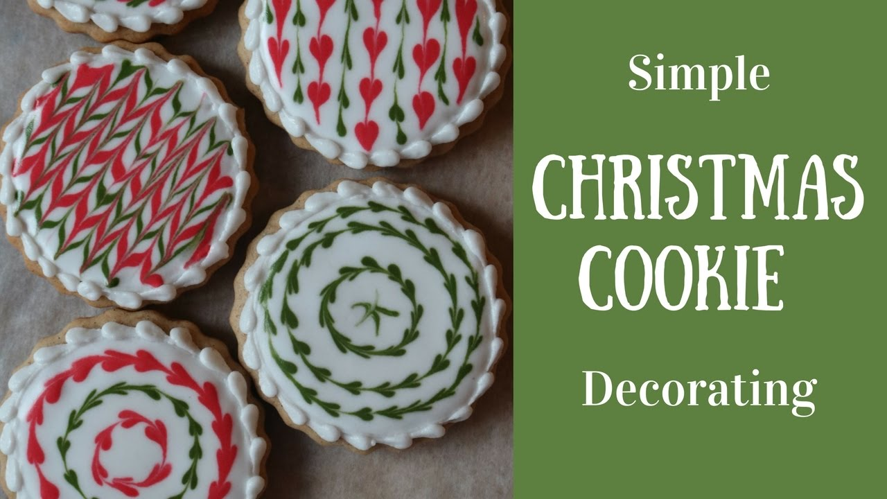 simple christmas cookie decorating youtube - Simple Christmas Cookies