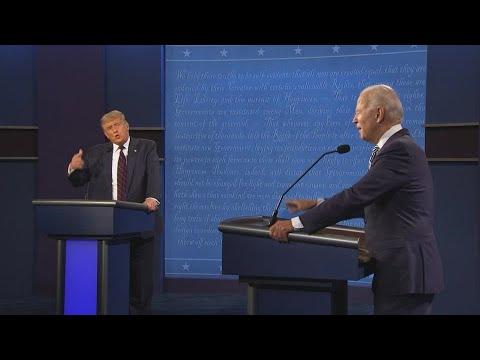 'Shut up': First presidential debate begins