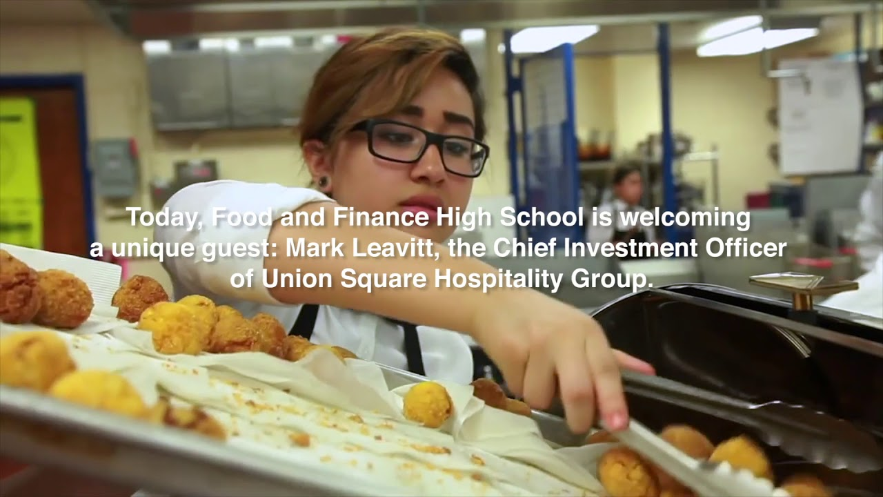 Mark Leavitt Visits New York Citys Food And Finance High School