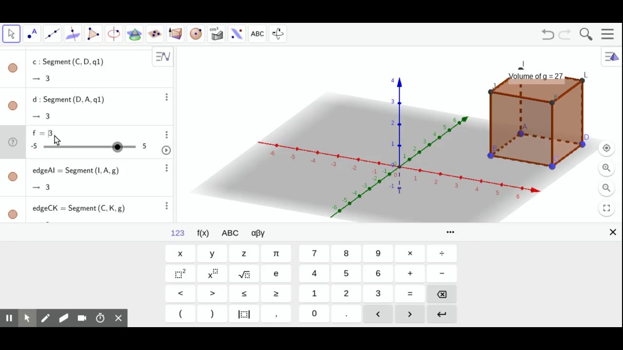 Introduction to 3D GeoGebra-Volume of Prism