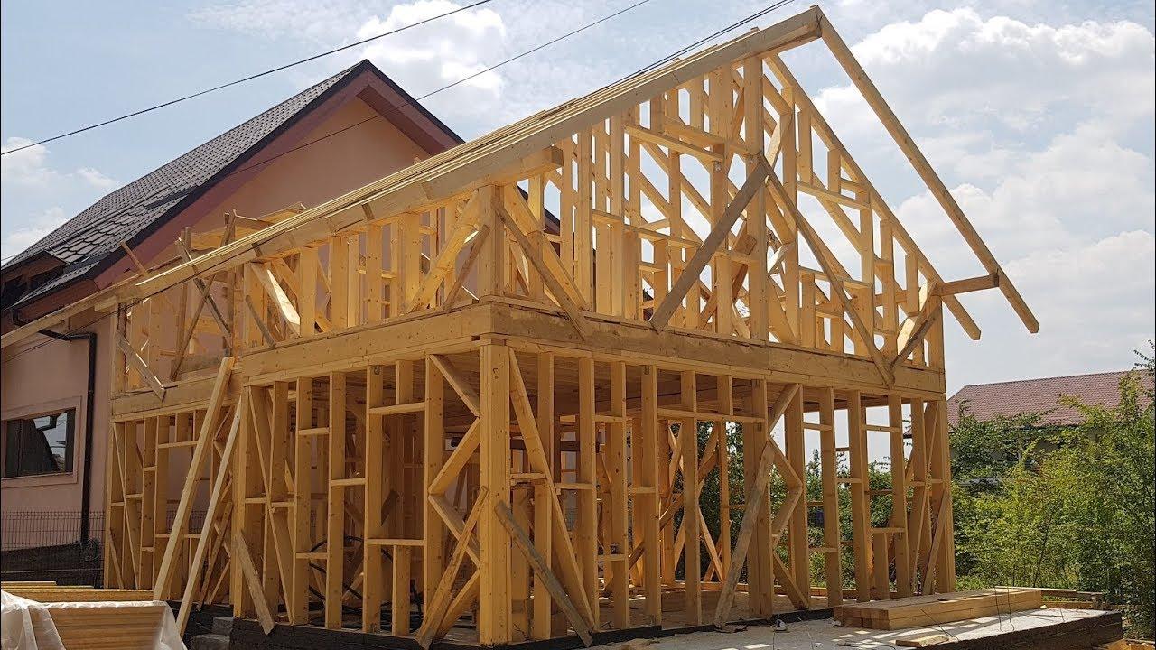 Constructie Casa Structura Din Lemn Si Osb Cu Fundatie Din Beton Armat Youtube
