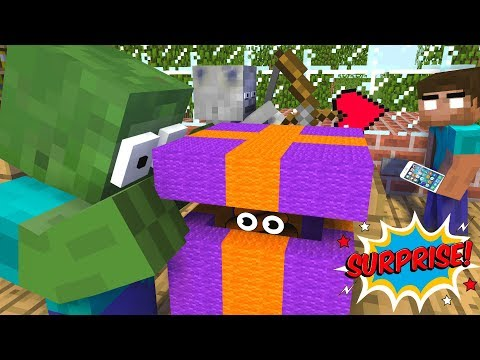 Monster School : UNBOXING FREE GIFT FROM MINECRAFT- Minecraft Animation thumbnail