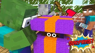 Monster School : UNBOXING FREE GIFT FROM MINECRAFT- Minecraft Animation