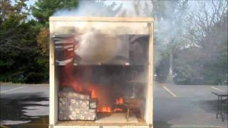NFPA's Fire Sprinkler Initiative: side-by-side burn