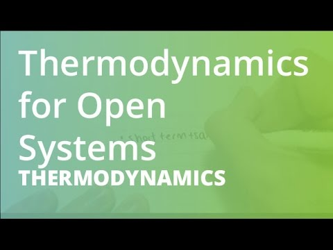 First Law of Thermodynamics for Open Systems | Thermodynamics (THRM101)