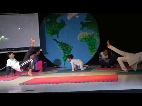 Vikhram and his friends Yoga performance @ Gator run elementary school - Weston Fl