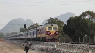 HD DF4D Trains Guilin China 4 桂林 湘桂線 東風4型快速