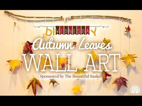 DIY Autumn Leaves Wall Art