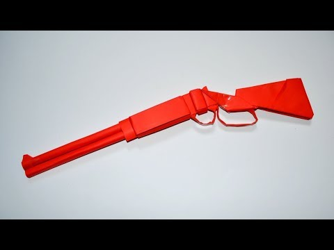 How to make a paper gun - winchester - DIY - paper toy - origami