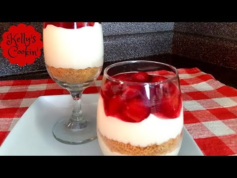 💕Cherry Cheesecake In A Glass Recipe-Cute And Delicious!💕