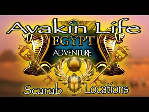 Avakin life | Egyptian Adventure Guide: Scarab Locations