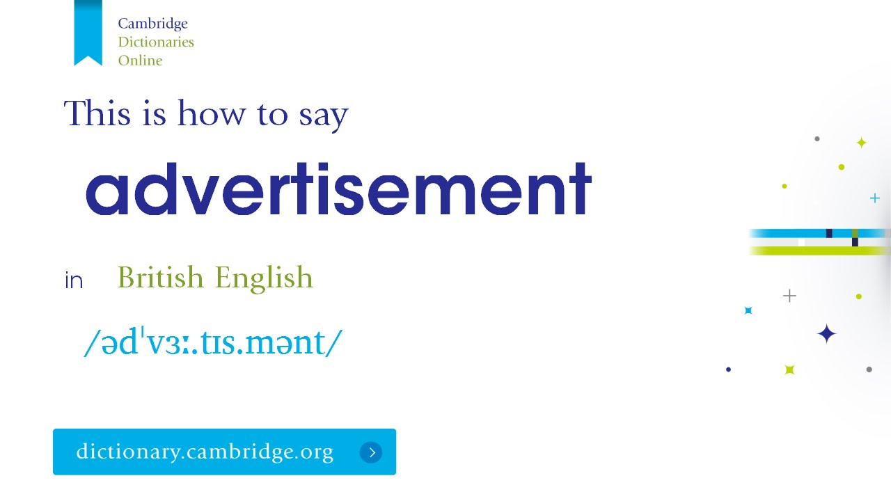 How to say advertisement