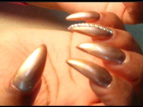 Women S Self Defense Long Stiletto Acrylic Nails