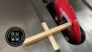 Aligning the blade on my table saw.